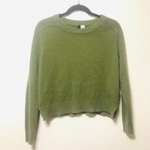 H&M olive sweater